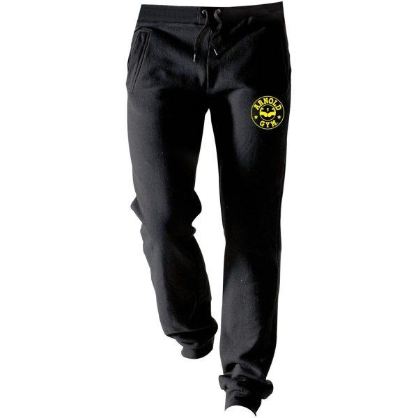 mens-fitness-bodybuilding-gym-black-jogger-pants-mission arnold gym