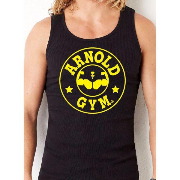 mens-essential-training-black-tank-arnold gym