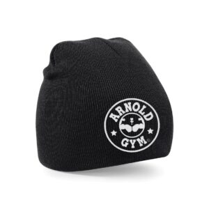 Knitted Sports Gym Beanie Hat arnold gym