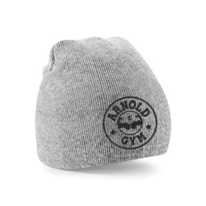Knitted Sports Gym Beanie Grey Hat arnold gym wear