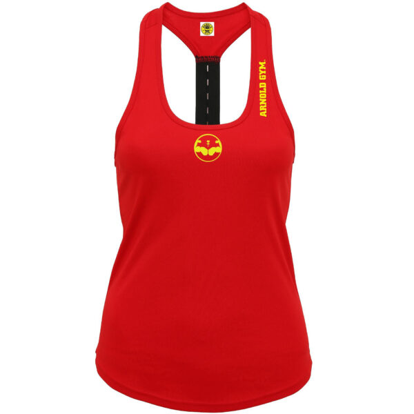 Women Performance Fitness Sports Red Vest arnold gym