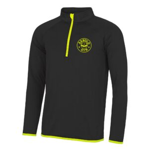 Men's AG Muscle Fit Black Gold 1/2 Zip Top
