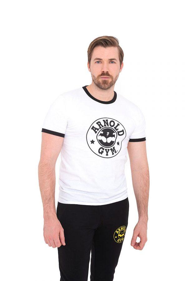 Retro-Bodybuilding-Workout-Training-Black-White-T-Shirt-Arnold-Gym