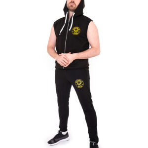 Core-Sports-Arnold-Gym-Training-Sleeveless-Black-Hoodie