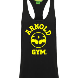 Arnold Gym Legend Workout Stringer Vest-Black