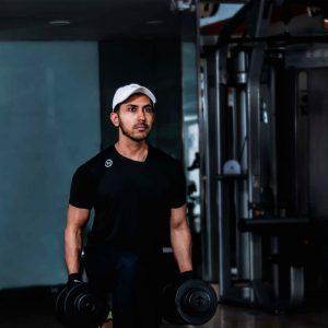 Black gym t-shirt activewear by Arnold Gym Gear