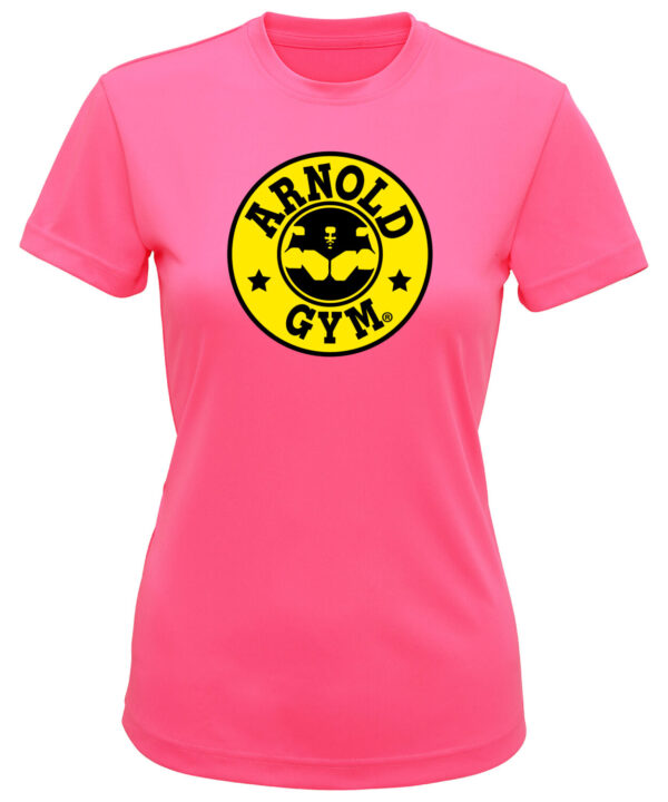 Women Arnold Gym Pink Top-activewear.