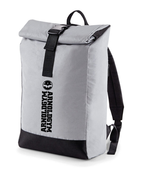 gym backpack-workout-silver-arnold-gym-bag.