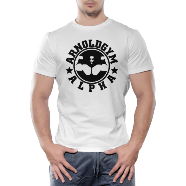 Alpha-Arnolds-Gym-wear-fitness-training-workout-t-shirt-white