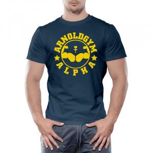 Alpha-Arnolds-gym-training-workout-t-shirt-navy