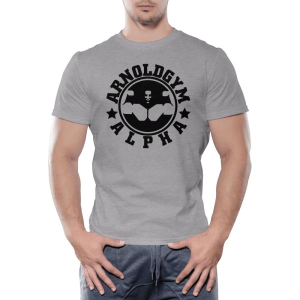 Alpha-Series-Workout-training-Arnold-Gym-grey-t-shirt