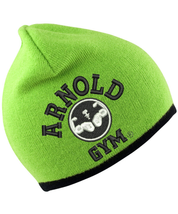 arnold-gym-beanie-hat-black-embroidery-lime