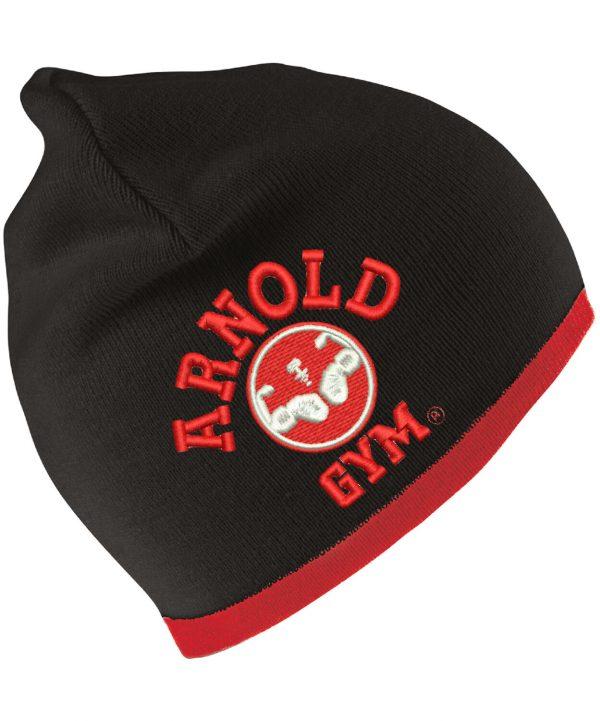 arnold-gym-beanie-hat-red